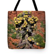 Cactus Outside The Chapel Of The Holy Cross Tote Bag