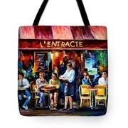 Cafe In Paris Tote Bag