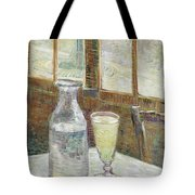 Cafe Table With Absinthe Tote Bag
