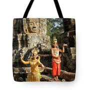 Cambodian Dancers At Angkor Thom Tote Bag