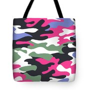 Camouflage Pattern Background Seamless Clothing Print, Repeatabl Tote Bag