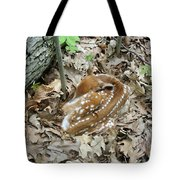 Camouflaged Fawn Tote Bag