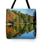 Camp Blanton Autumns Reflection Tote Bag