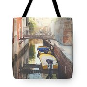 Canals Of Venice With Instagram Vintage Style Filter Tote Bag