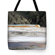Canary Spring At Mammoth Hot Springs Upper Terraces Tote Bag