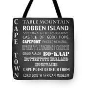 Cape Town Famous Landmarks Tote Bag