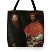 Cardinal Ippolito De Medici And Monsignor Mario Bracci Tote Bag