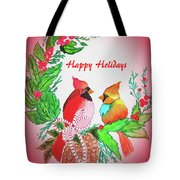 Cardinals Painted By Judith Brilhamte Tote Bag