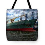 Cargo Ship Tote Bag