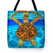 Caribbean Hawksbill Sea Turtle Tote Bag