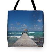 Caribbean Landing Tote Bag