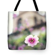 Carmel Mission With Flowers Tote Bag