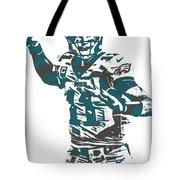 Carson Wentz Philadelphia Eagles Pixel Art 5 Tote Bag