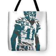 Carson Wentz Philadelphia Eagles Pixel Art 6 Tote Bag