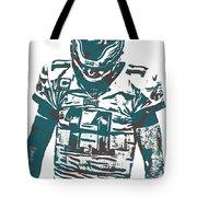 Carson Wentz Philadelphia Eagles Pixel Art 7 Tote Bag