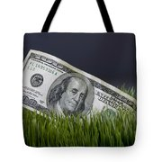 Cash In The Grass. Tote Bag