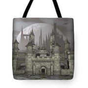 Castle By Night - 3d Render Tote Bag