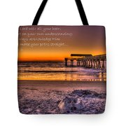 Castles In The Sand 2 Tybee Island Pier Sunrise Tote Bag