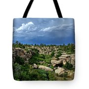 Castlewood Canyon And Rain Tote Bag