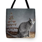 Cat Christmas Tote Bag