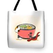 Cat In Food Tote Bag