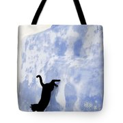 Cat Jumping From A Wall Tote Bag