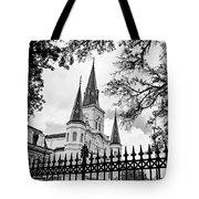 Cathedral Basilica - Square Bw Tote Bag