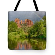 Cathedral Rock Rainbow Tote Bag