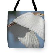 Cattle Egret In Flight Tote Bag