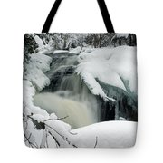 Cattyman Falls In Winter Tote Bag