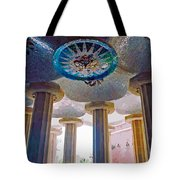 Ceiling Boss And Columns, Park Guell, Barcelona Tote Bag