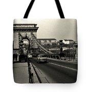 Chain Bridge Of Budapest In 1990 Tote Bag