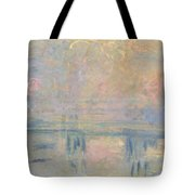 Charing Cross Bridge Tote Bag by Claude Monet