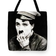 Charlie Chaplin, Vintage Actor And Comedian Tote Bag