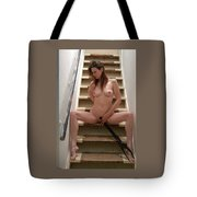 Charliegirl On The Stairs 6 Tote Bag