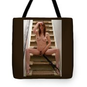 Charliegirl On The Stairs 1 Tote Bag