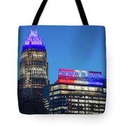 Charlotte North Carolina Skyline City View Tote Bag
