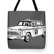 Checkered Taxi Cab Illustrastion Tote Bag