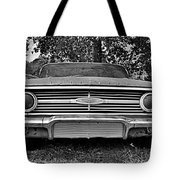 Chevrolet Bel Air Black And White 2 Tote Bag