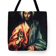 Christ As Saviour Tote Bag