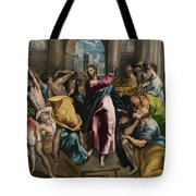 Christ Driving The Traders From The Temple Tote Bag