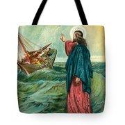 Christ Walking On The Sea Tote Bag