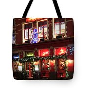 Christmas Decorations On The Buildings, Bruges City Tote Bag