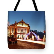 Christmas In Ribeira Grande Tote Bag