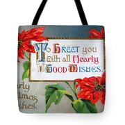 Christmas Postcard Tote Bag