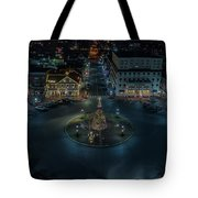 Christmas Lights, Looking North Tote Bag