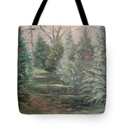 Christmas Tree Lot Tote Bag by Rosemary Kavanagh