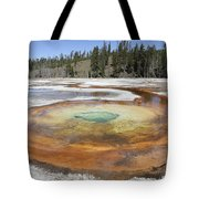 Chromatic Pool Hot Spring, Upper Geyser Tote Bag by Richard Roscoe