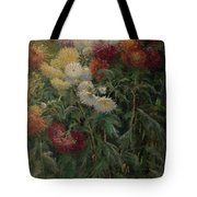 Chrysanthemums In The Garden At Petit-gennevilliers Tote Bag