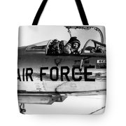 Chuck Yeager, Usaf Officer And Test Tote Bag